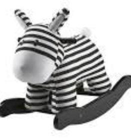 Kids Concept Schommelpaard - rocking horse wit/zwart