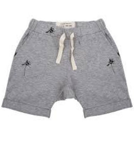 Little Indians Short Palmtrees grey melange 0-3M