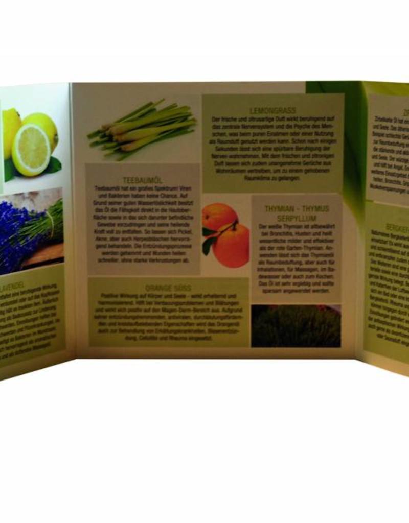 6 x 10 ml flaconi di olii essenziali 100% naturali e biologici