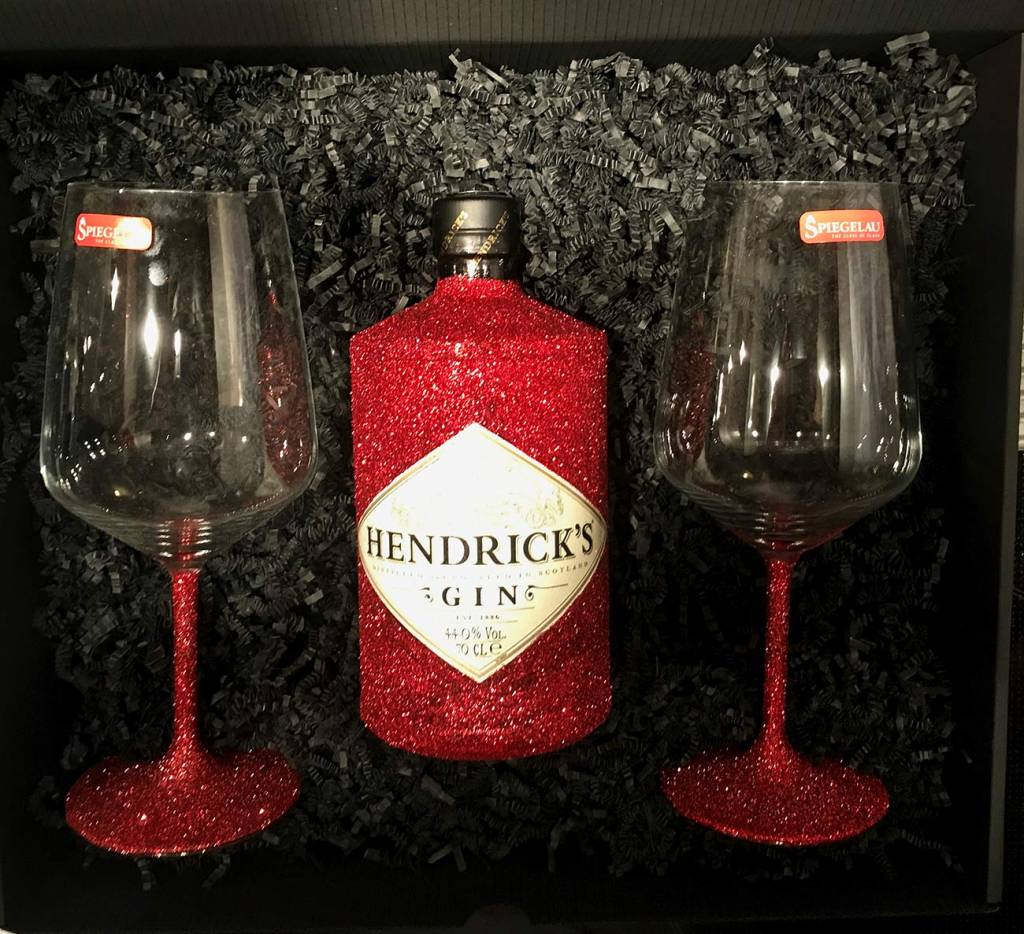 Box-Sets Glitzer Geschenkset Hendrick's Gin (0,7l)