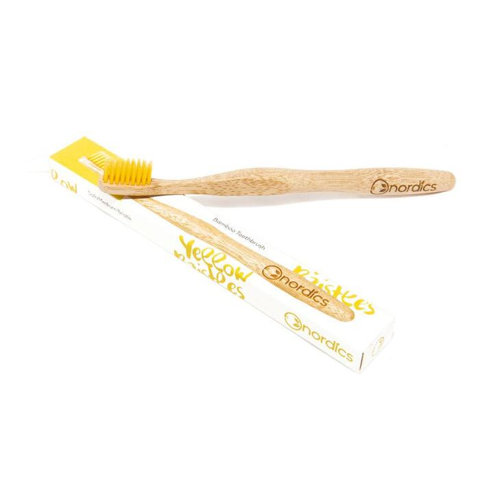 Nordics Bamboe Toothbrush Yellow