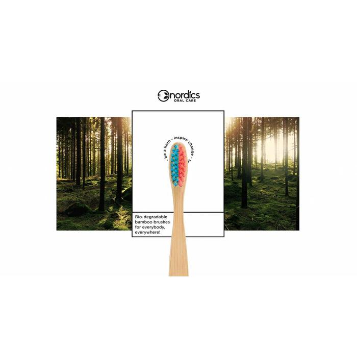 Nordics Bamboe Toothbrush Blue