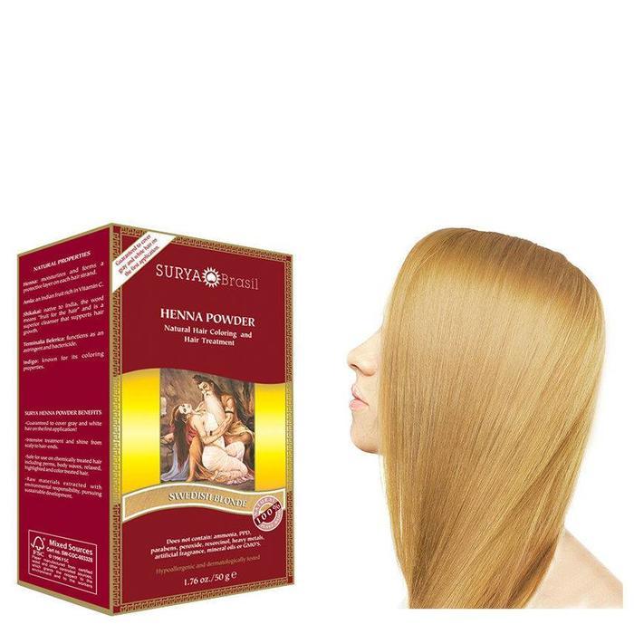 Surya Brasil Henna Haarverf Powder Swedish Blonde 50g