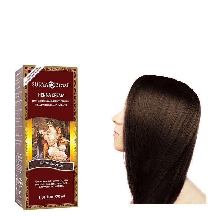 Surya Brasil Henna Haarverf Cream Dark Brown 70ml