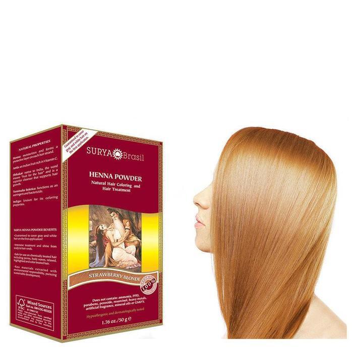 Surya Brasil Henna Haarverf Powder Strawberry Blonde 50g