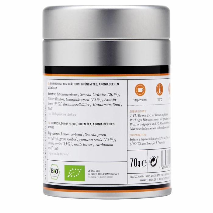 Teatox Active Power Bio Green Tea Guarana 70g