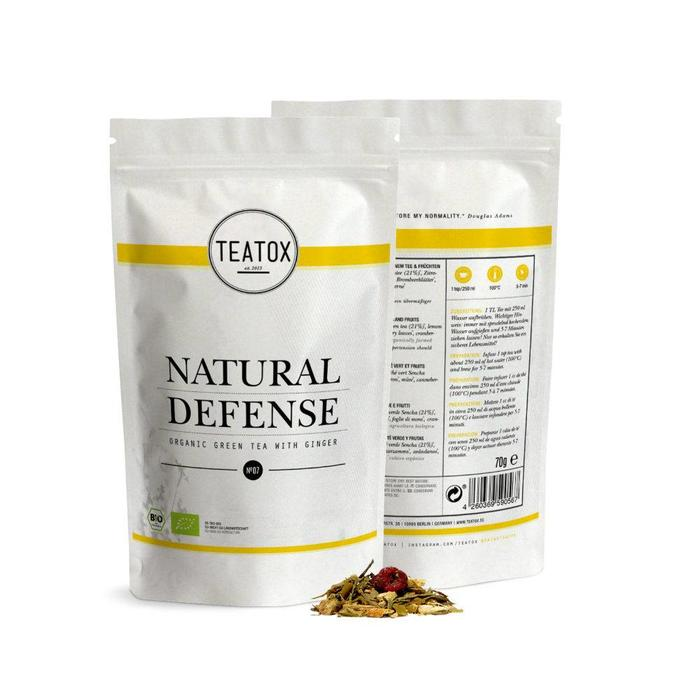 Teatox Natural Defense Bio Green Tea Ginger 70g REFILL