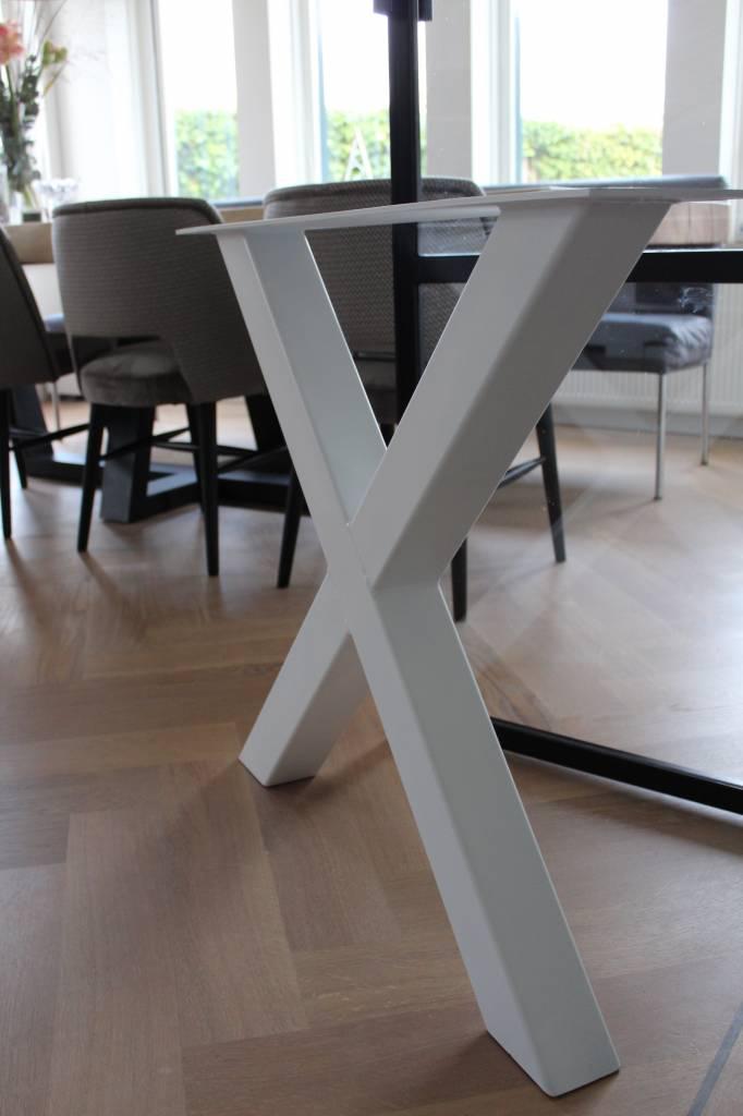 Tafelonderstel X-LEG 80x80 Wit