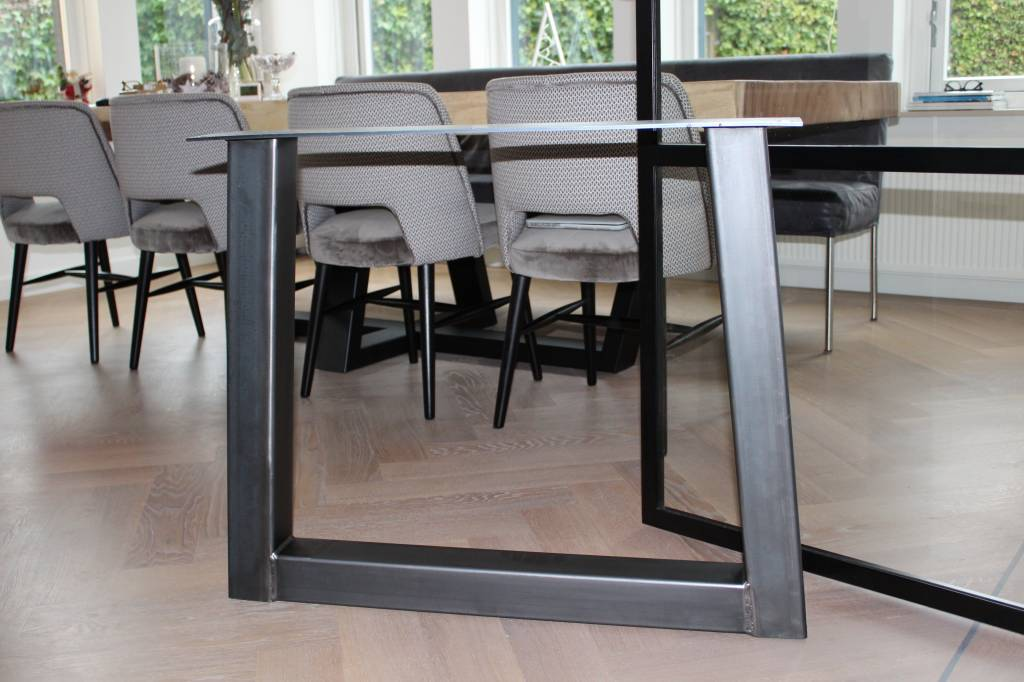 TafelpootTrapezium 80x80 transparant