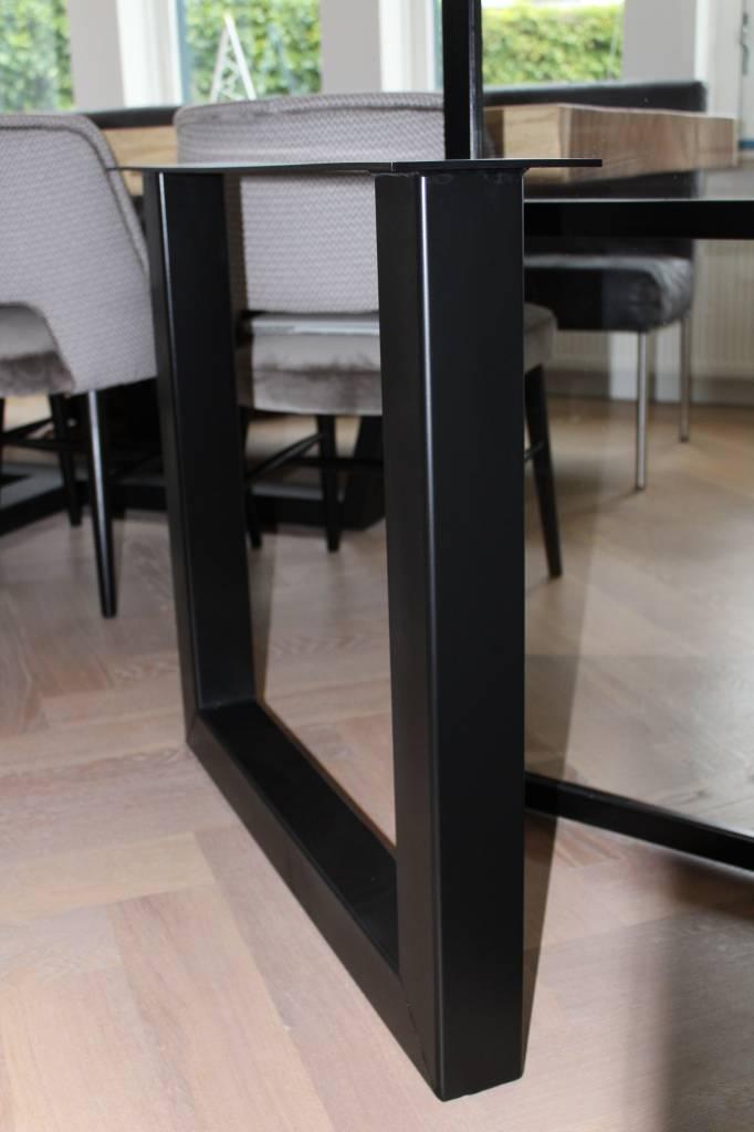 Tafelonderstel U-LEG 80x80 zwart