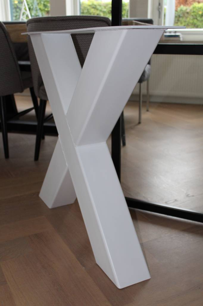 Tafelonderstel X-LEG 120x120 wit