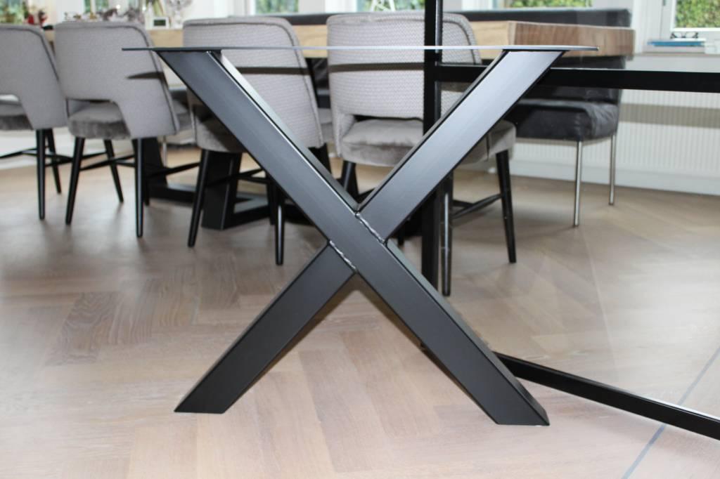 Tafelonderstel X-LEG 80x80 Zwart
