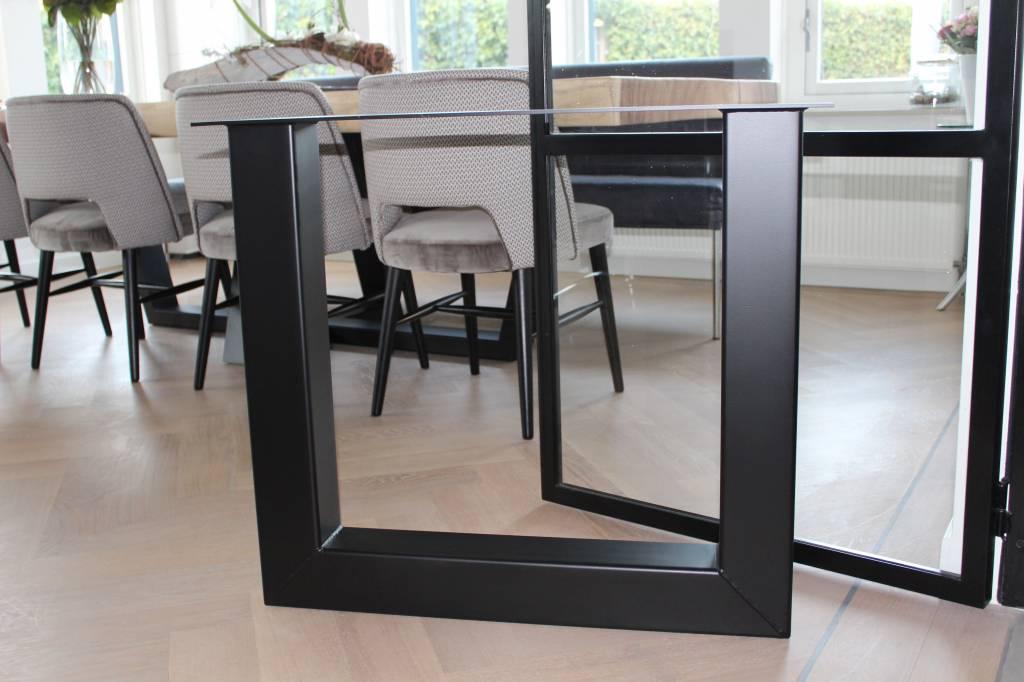 Tafelonderstel U-LEG 100x100 Zwart