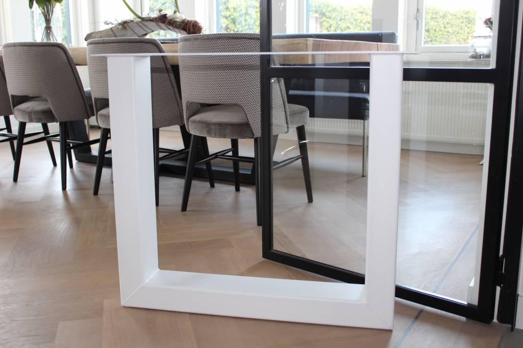 Tafelonderstel U-LEG 120x80 Witte coating