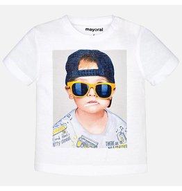 "Mayoral S/s ""boy"" shirt White"