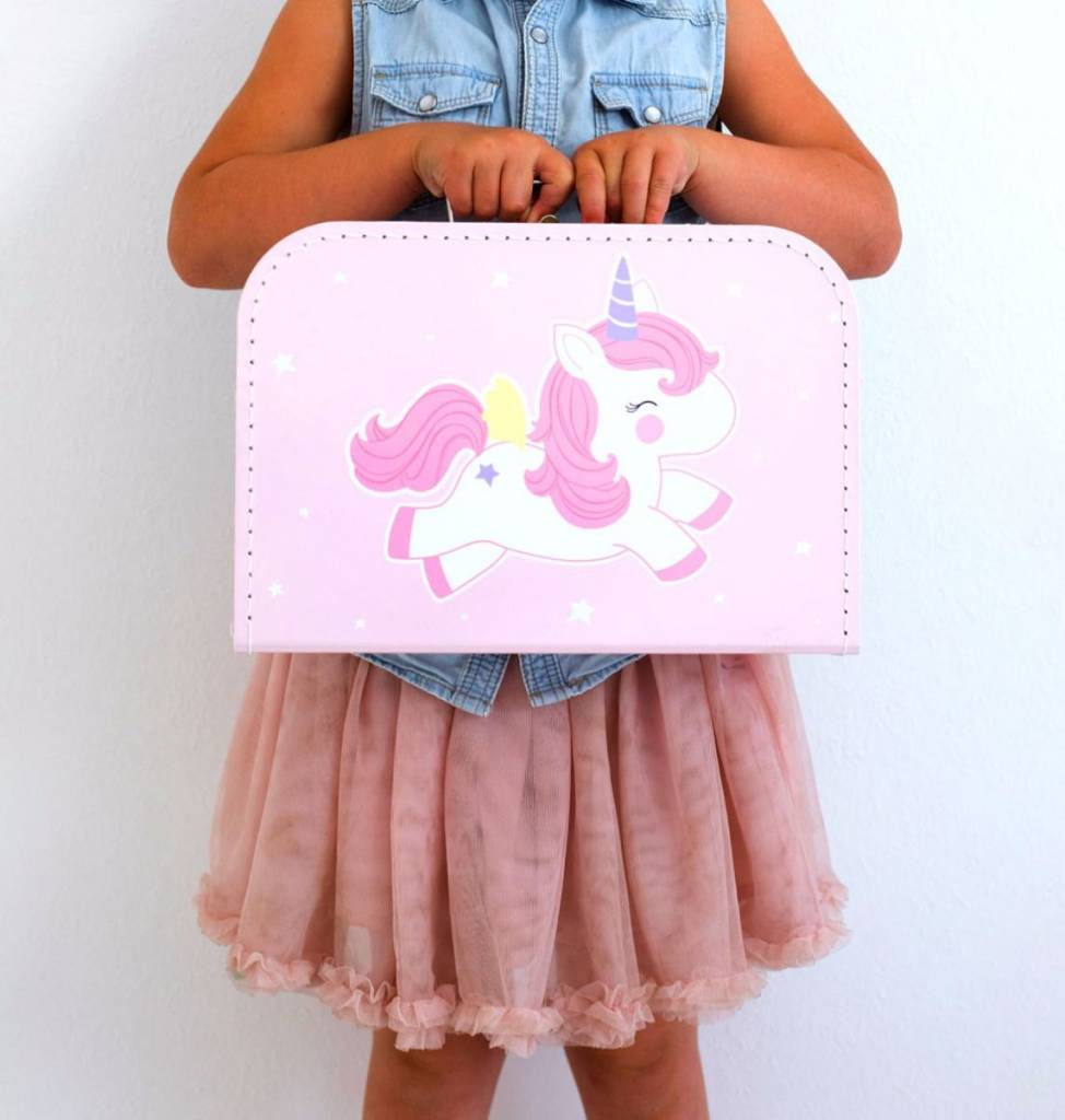 A Little Lovely Company Suitcase Baby unicorn
