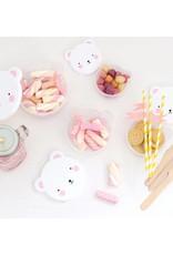 A Little Lovely Company Snack box Bear Pink