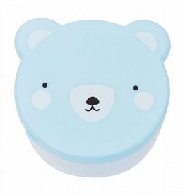 A Little Lovely Company Snack box Bear Blue