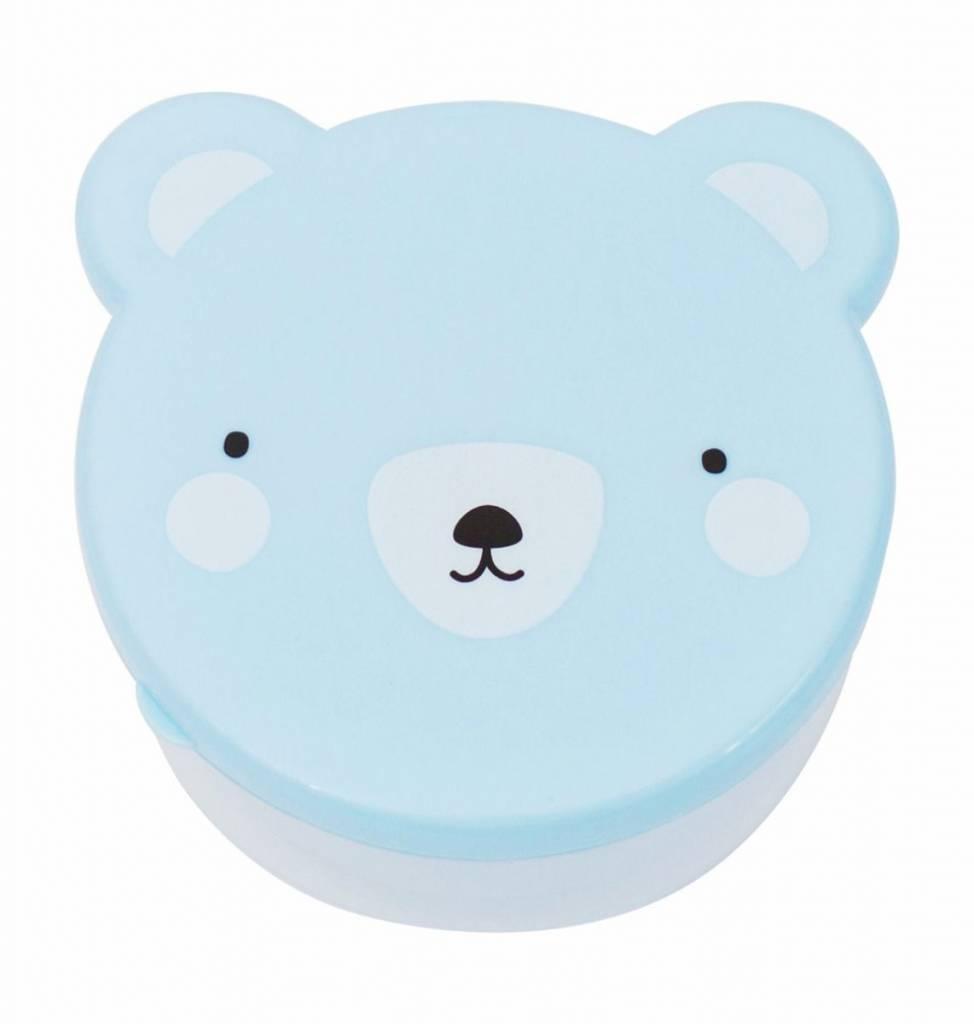 A Little Lovely Company Snack box Bear Blue
