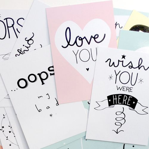 A Little Lovely Company Selfie cards