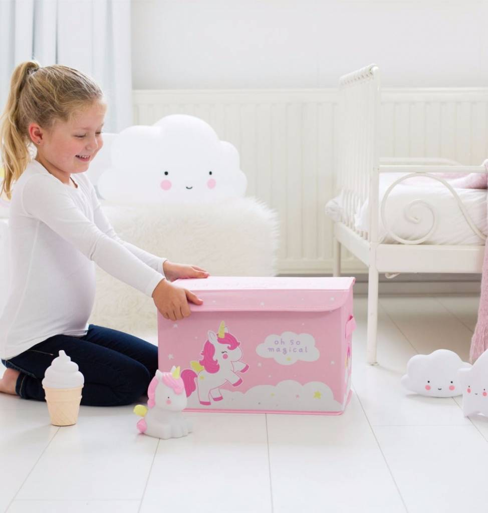 A Little Lovely Company Pop-up storage box Unicorn