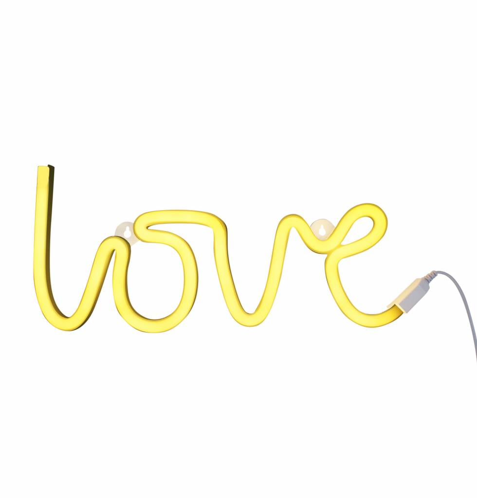 A Little Lovely Company Neon style light Love yellow