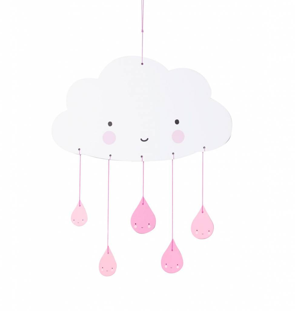 A Little Lovely Company Mobile Pink Cloud