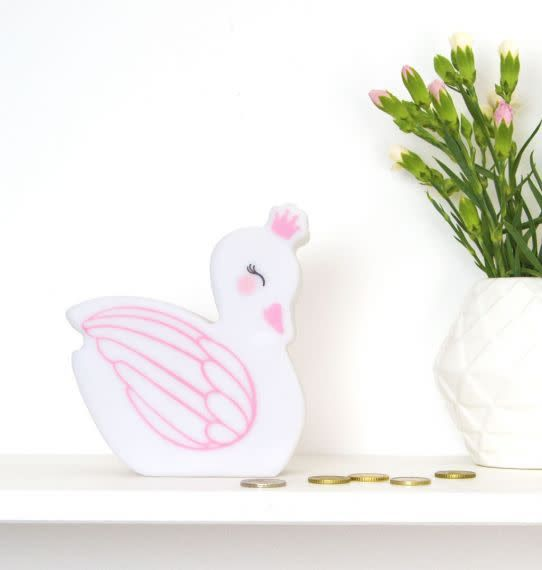 A Little Lovely Company Money Box Swan