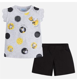 Mayoral Polka dots short set Black
