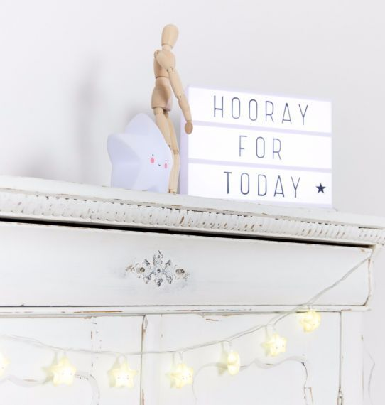 A Little Lovely Company Lightbox White A4