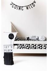 A Little Lovely Company Letter banner Black