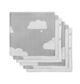 Jollein Set 6 Hydrofiele Doeken Clouds Grey