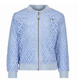 Le Chic Baby Girls Bomber Jacket Fancy Lace Morning Blue
