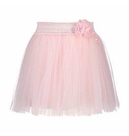 Le Chic Girls Skirt Net Flowers Waist Light-Pink
