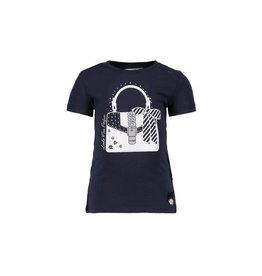 Le Chic Baby Girls Shirt Flower Blue