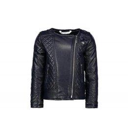 Le Chic Girls Jacket Fake Leather Blue
