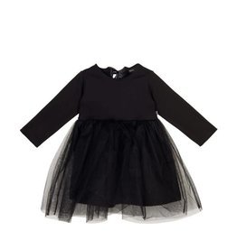House Of Jamie Oversized Tulle Dress Black