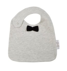 House Of Jamie Bow Tie Bib Black & Stone
