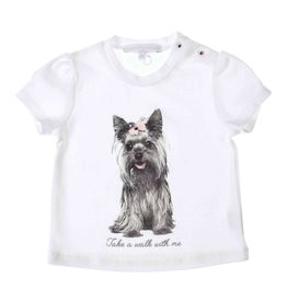 Gymp T-SHIRT PRINT DOG WITH BOW - A W