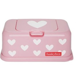 Funkybox Funkybox Roze Hartjes All Over