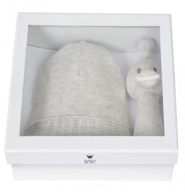 Bambam Giftbox Knitted Hat & Duckrattle