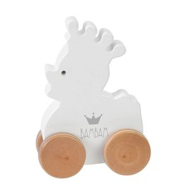 Bambam Wooden Duck On Weels