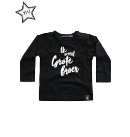 Your Wishes Grote broer Shirt Longsleeve Black