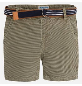Mayoral Striped shorts w/belt Green