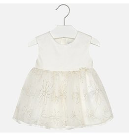 Mayoral Tulle dress Champagne