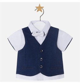 Mayoral S/s Vest t-shit w/bow tie. Navy