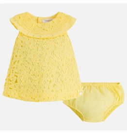 Mayoral Embroidered dress Lemonade