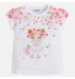 Mayoral S/s doll t-shirt  Rose