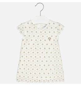 Mayoral Embroidered dress Champagne