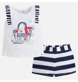 Mayoral Bag shorts set Navy